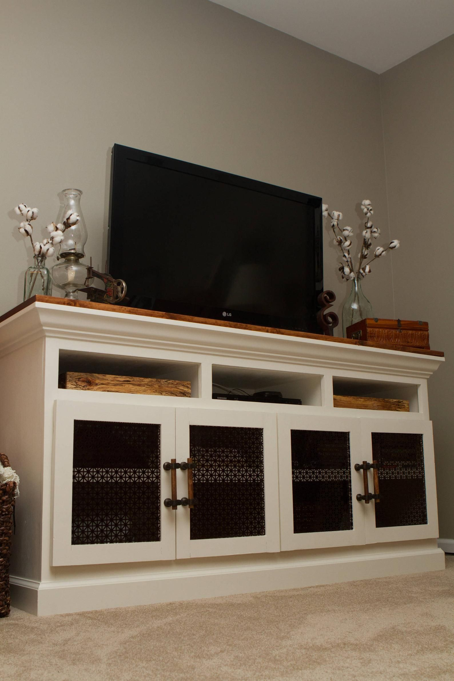 Farmhouse media console tv stand designs new living