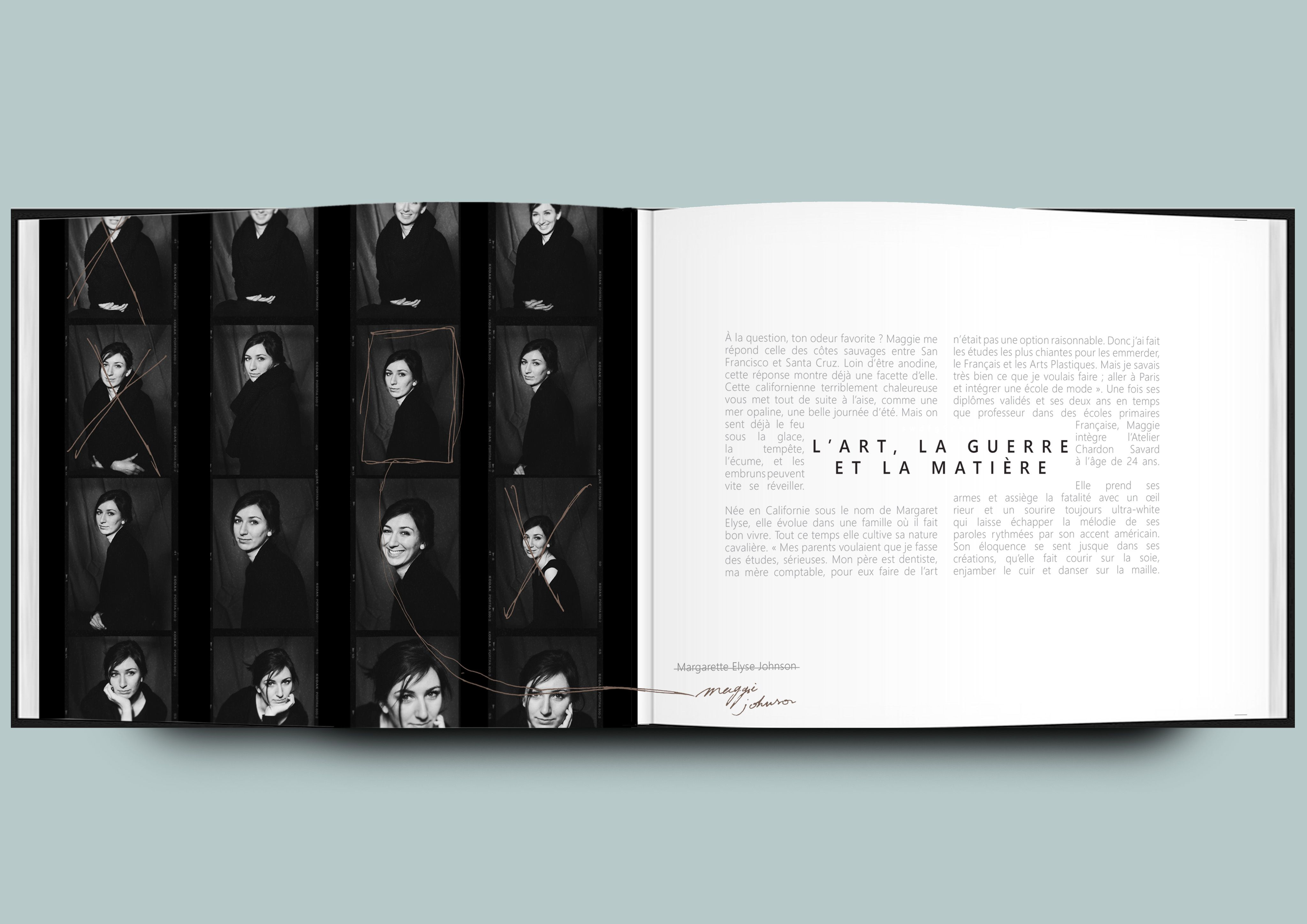 Layout fashion book by Maiwenn Nicolas