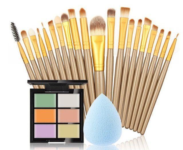 Pro Makeup Set 6 Colors Concealer Palette Sponge Puff 20
