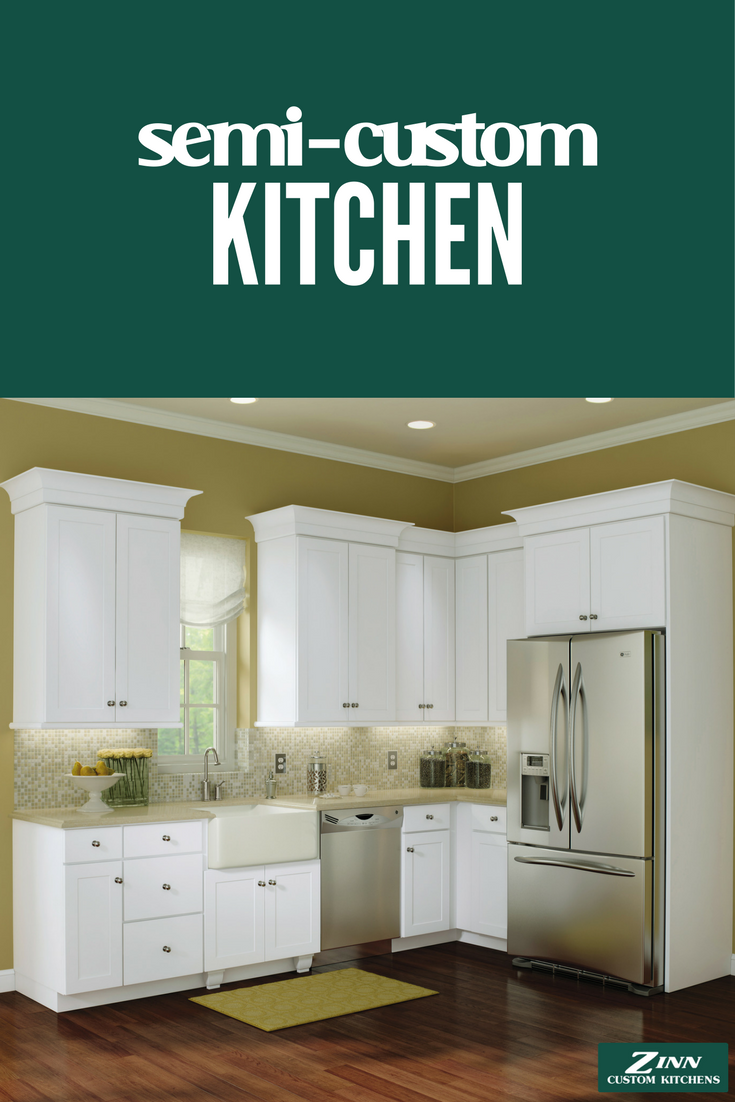 We love this bright, spring kitchen! This semicustom