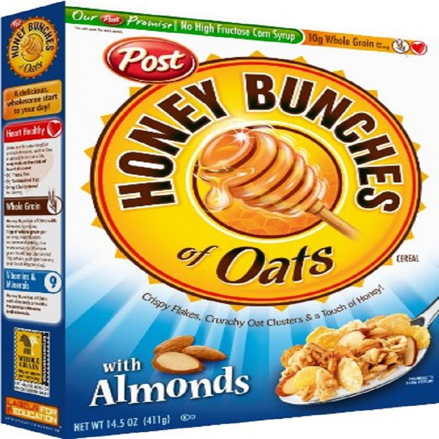 honey bunches of oats with almonds 14 5 ounce boxes pack of 4 in