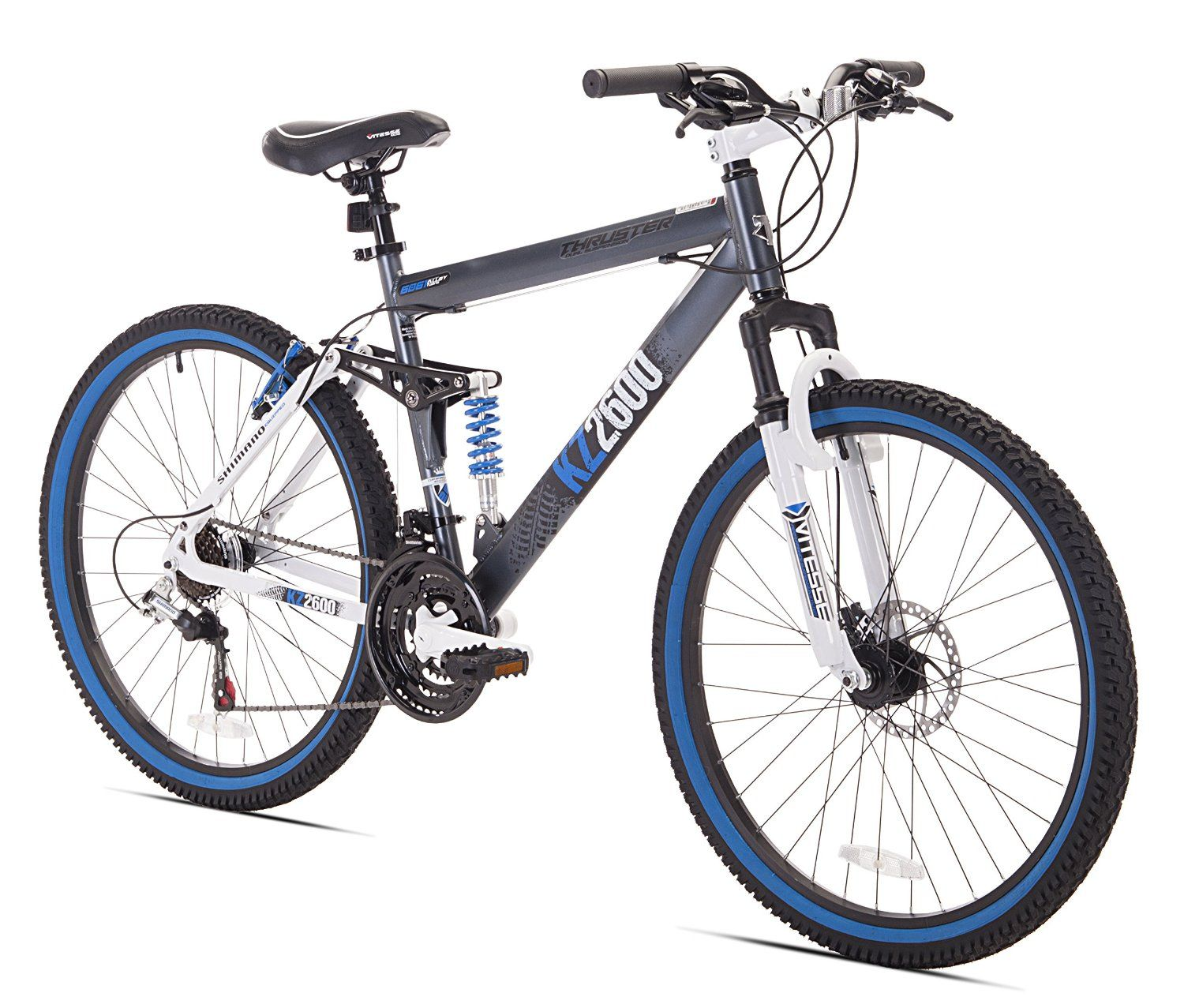 amazon : kent thruster kz2600 dual-suspension mountain bike