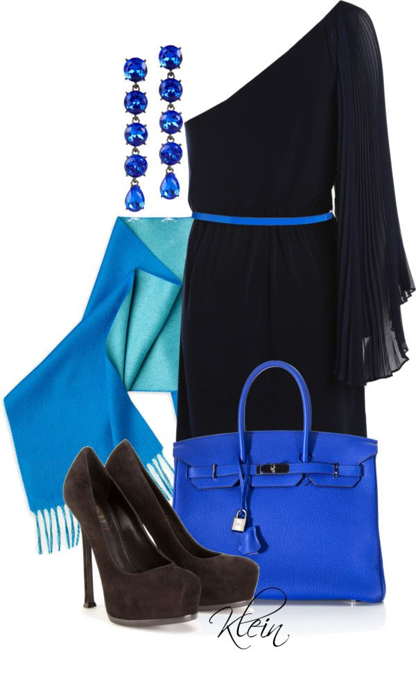 """""""A Little Pop of Color...Blue"""" by stacy-klein on Polyvore"""