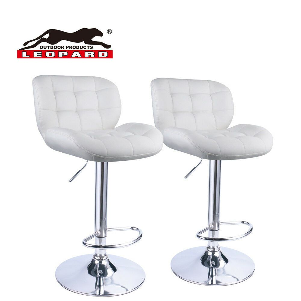 Details About Leopard Deluxe Adjustable Bar Stools With Back