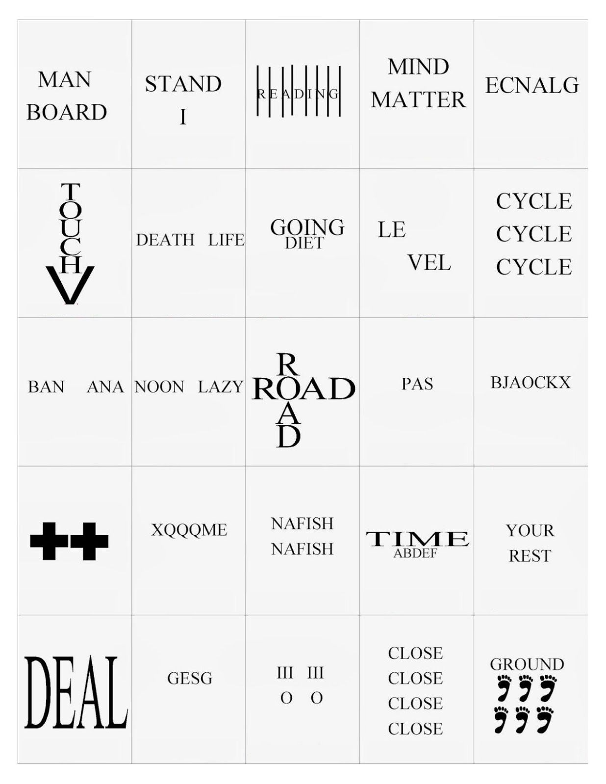 Rebus Puzzle Brain Teasers Worksheets Printable Worksheets And Activities For Teachers Parents Tutors And Homeschool Families