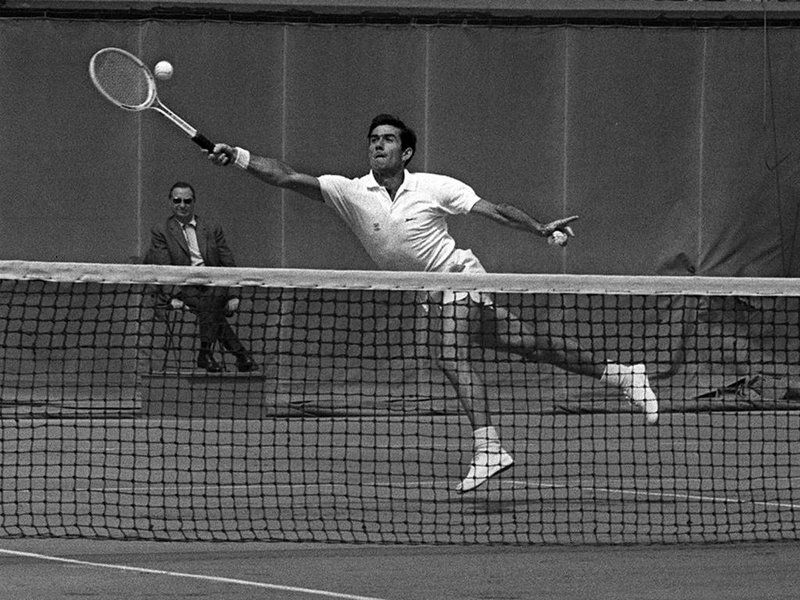 Image result for ken rosewall french open 1968