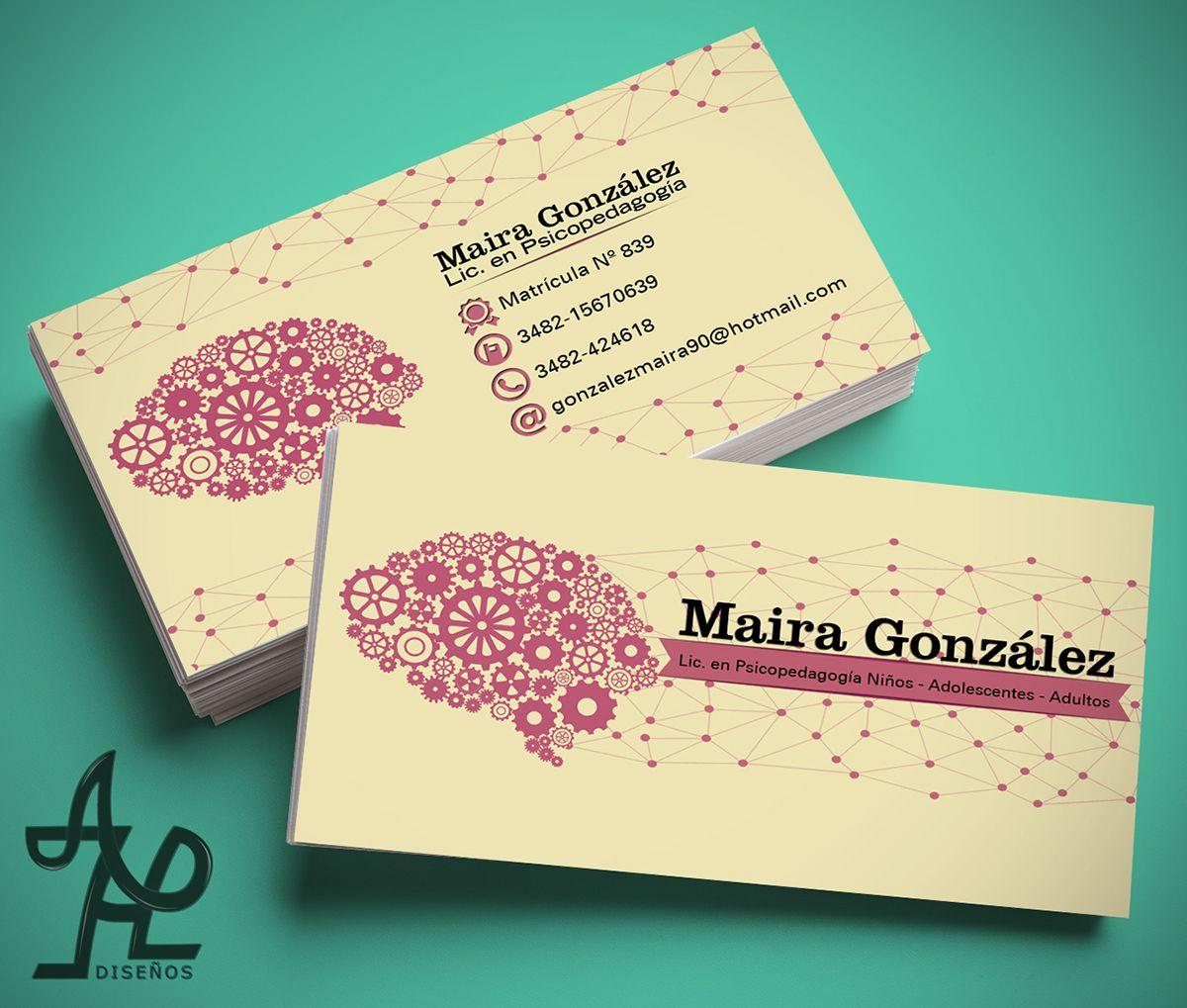 dise u00f1o de tarjetas personales para psicopedagoga