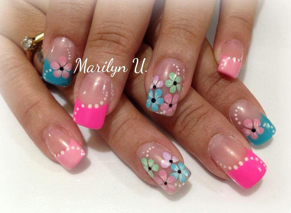 Manos$3 Pies$5 | Nails | Pinterest | Flower nails, Manicure and Nail ...