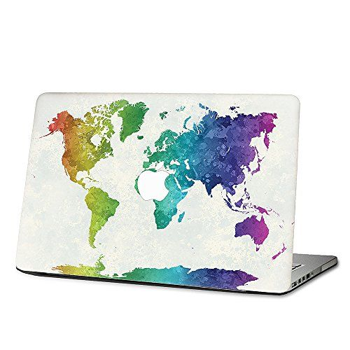 15 macbook pro retina display world map in watercolor skin vinyl 15 macbook pro retina display world map in watercolor skin vinyl decal laptop kmb422 gumiabroncs Images
