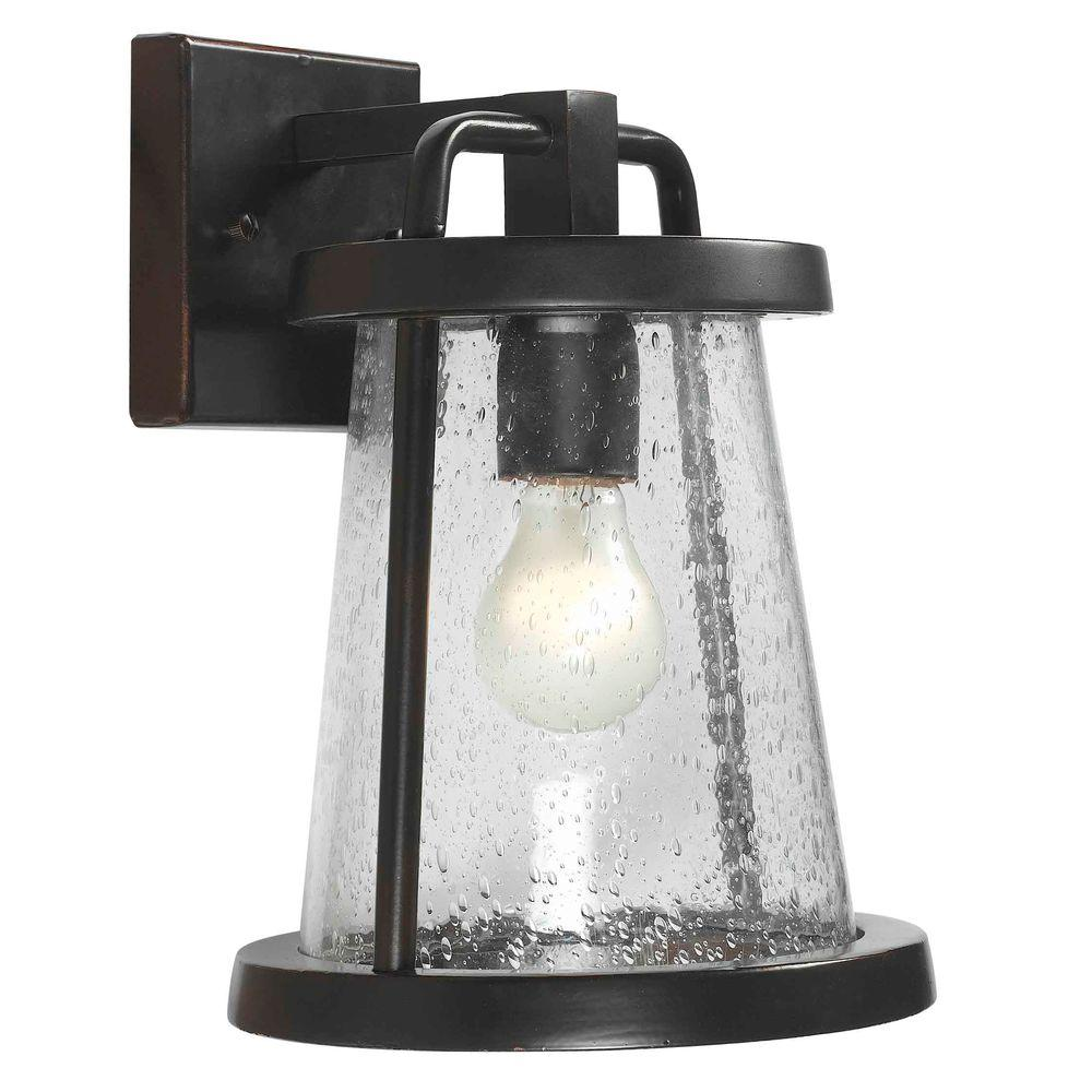 Gale 1 Light Black Outdoor Wall Lantern