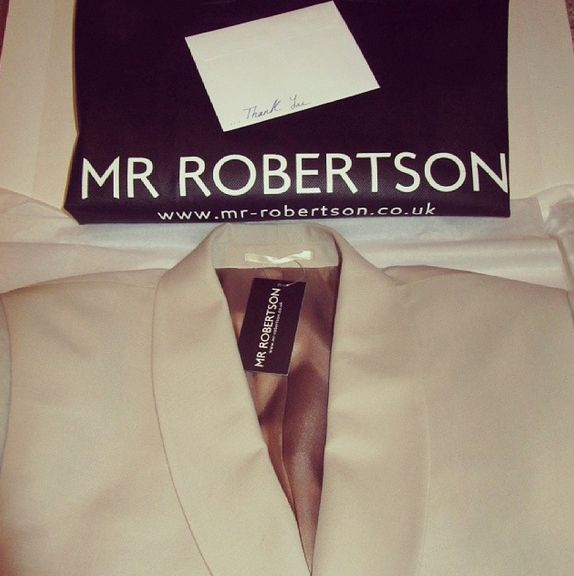 One of our customers plans for the summer with this cream blazer