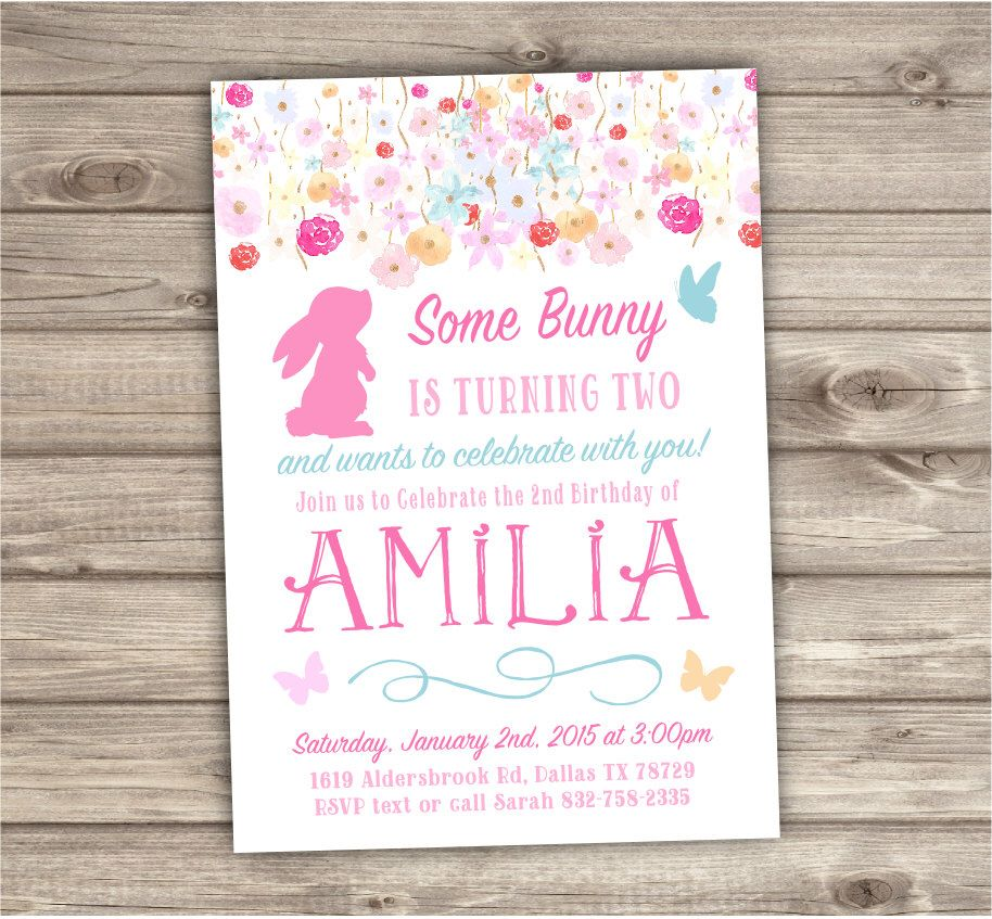 A Personal Favorite From My Etsy Shop Httpswwwetsycomca - Bunny birthday invitation template