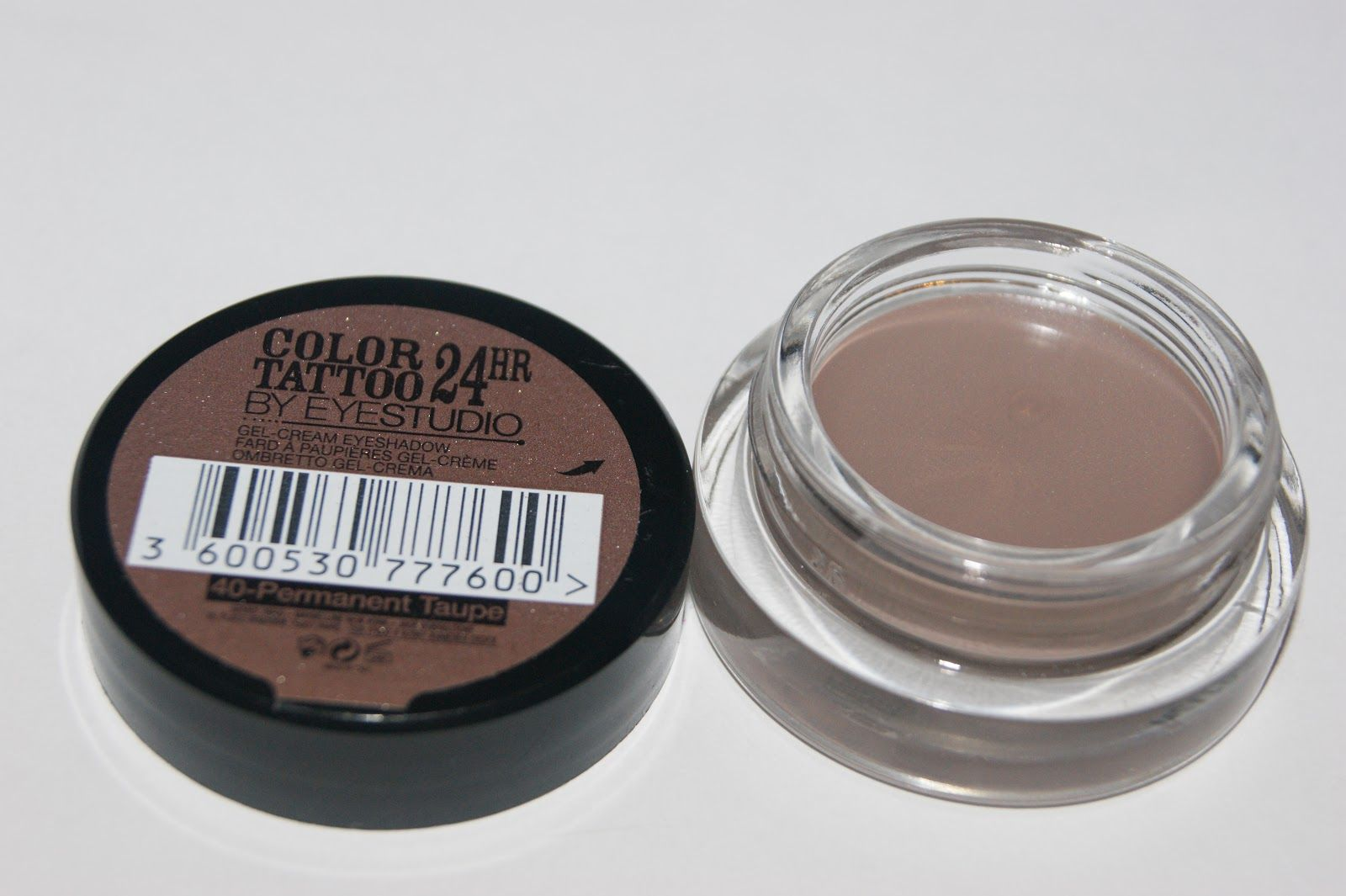 Maybelline Color Tattoo 24 Hour Gel Cream Eyeshadow In Permanent Taupe A Lovely Greige Colour For Maybelline Color Tattoo Taupe Eyeshadow No Eyeliner Makeup