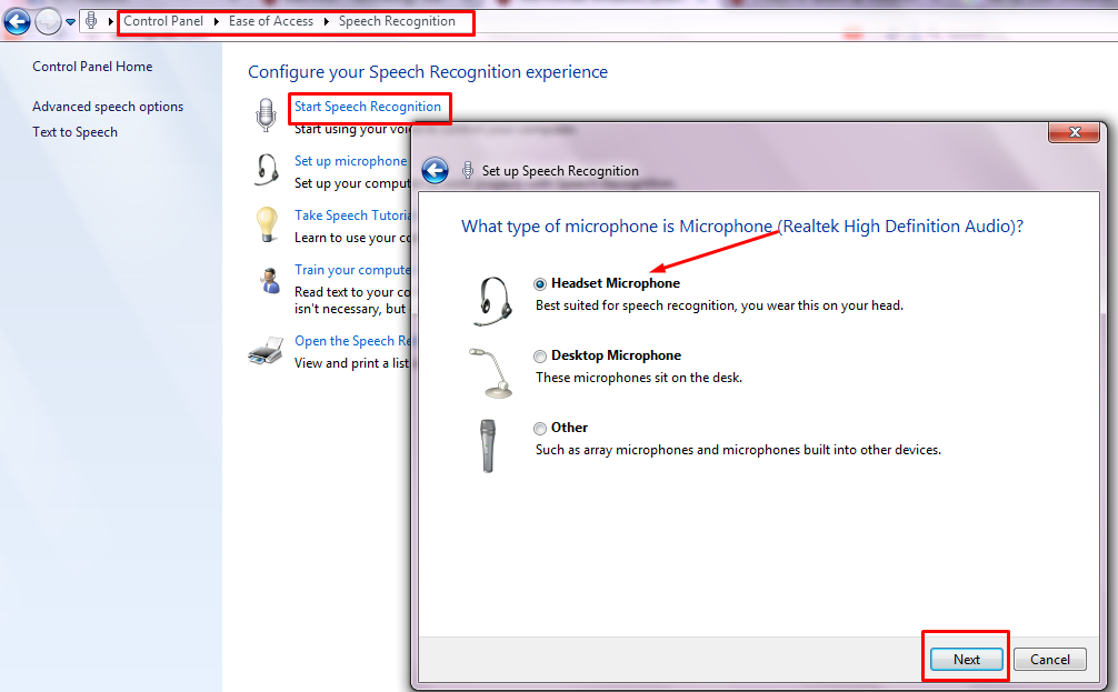Set Up your Windows 7 with Speech Recognition | windows