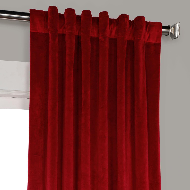 Cinema Red Plush Velvet Curtains Red Apartment Decor Home