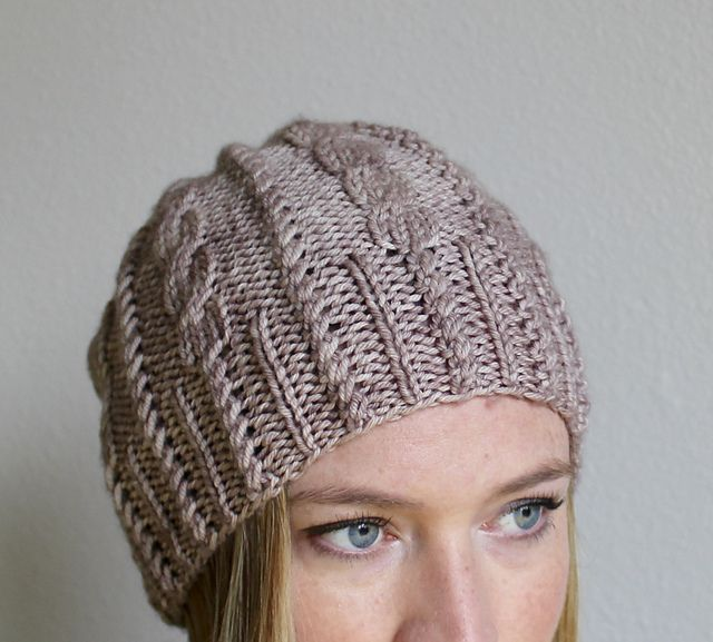 Ravelry: Cables & Twists Beanie pattern by Jamie Sande ...