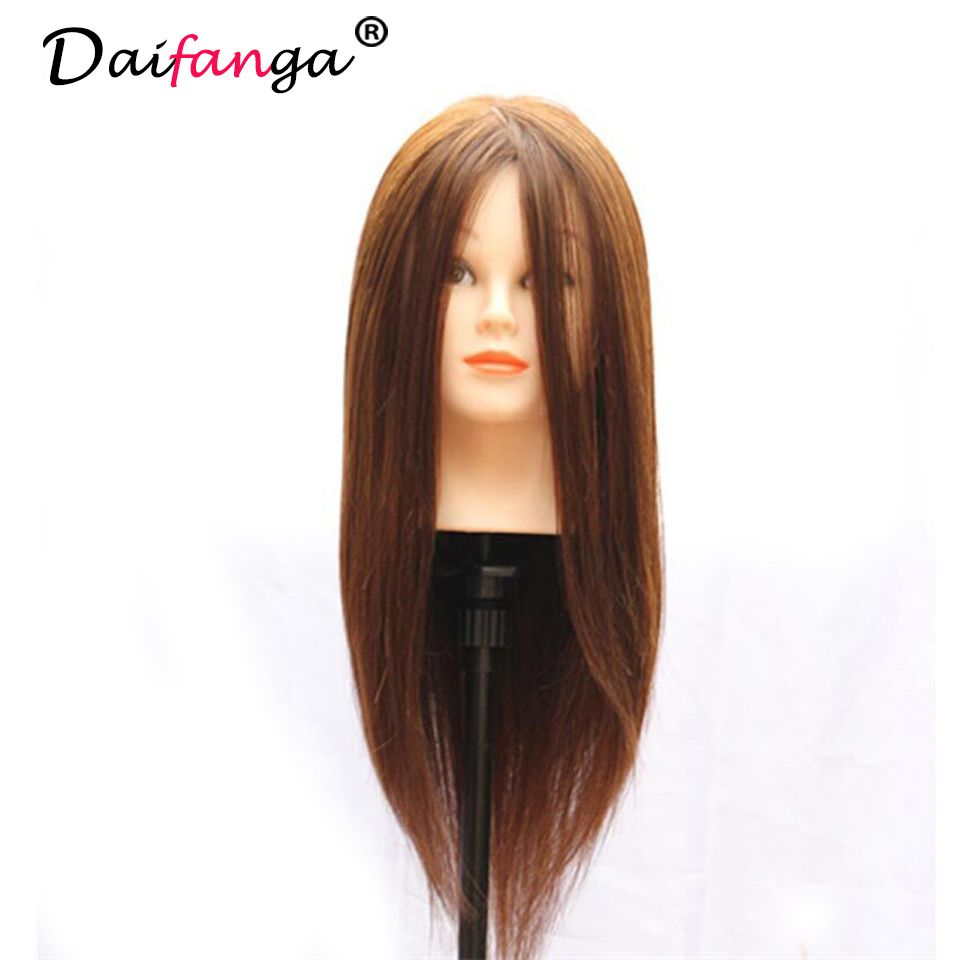 18 Brown Hair Styling Mannequin Head For Training Professional Styling Head For Makeup Practice Hairdressing Doll Heads Hair Mannequin Hair Styles Human Hair