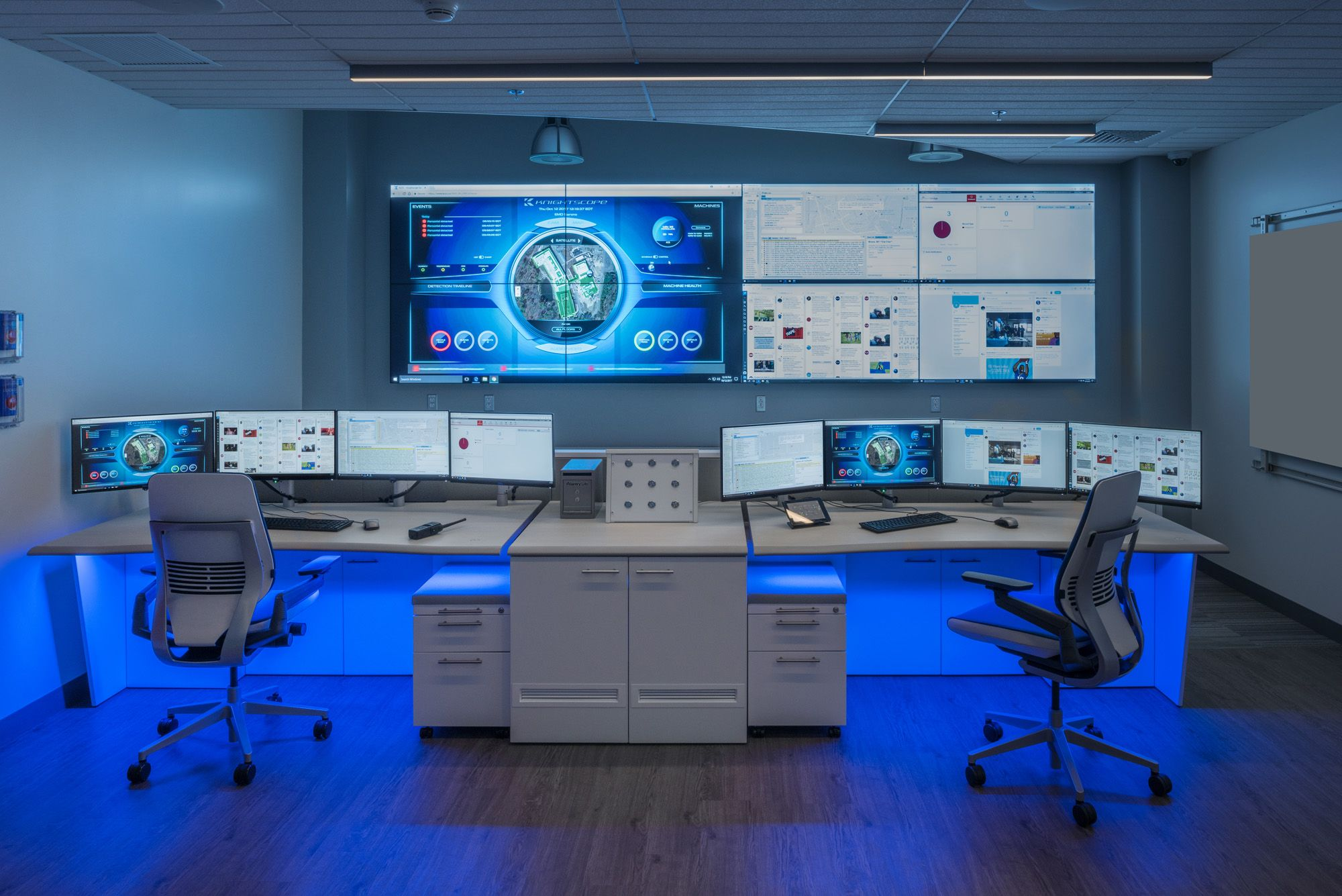 Showpiece Video Wall Integration and Command Center Furniture