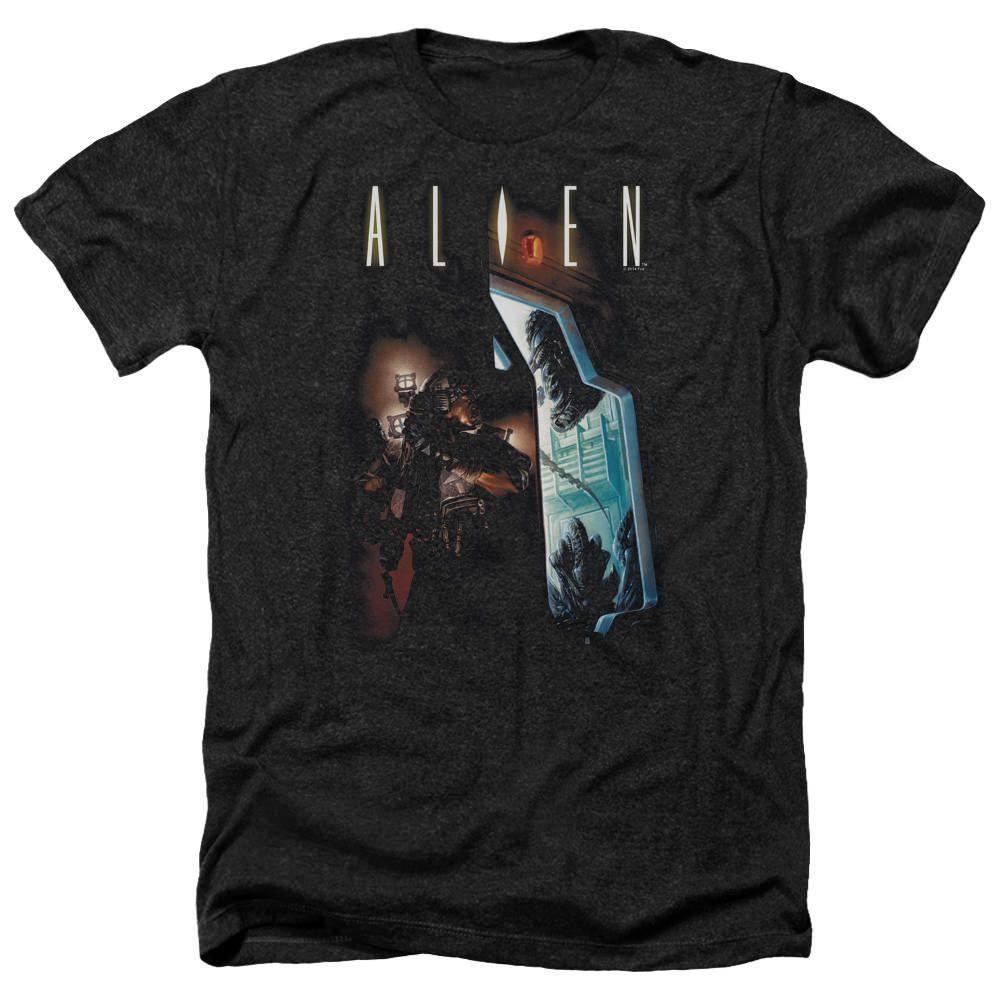 Alien Around the Corner Black Heathered Duo-Blend T-Shirt
