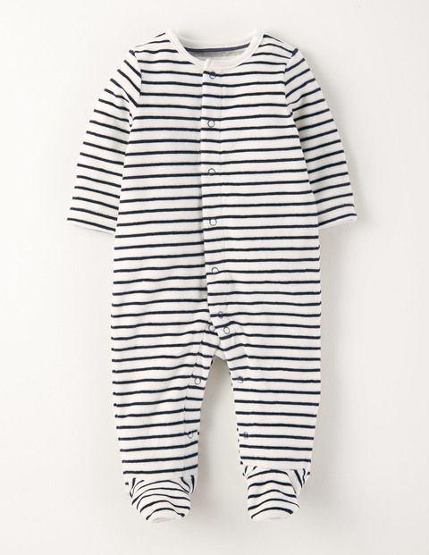 Baby Boys Velour Sleepsuit Babygrow Romper Cute Animal Design