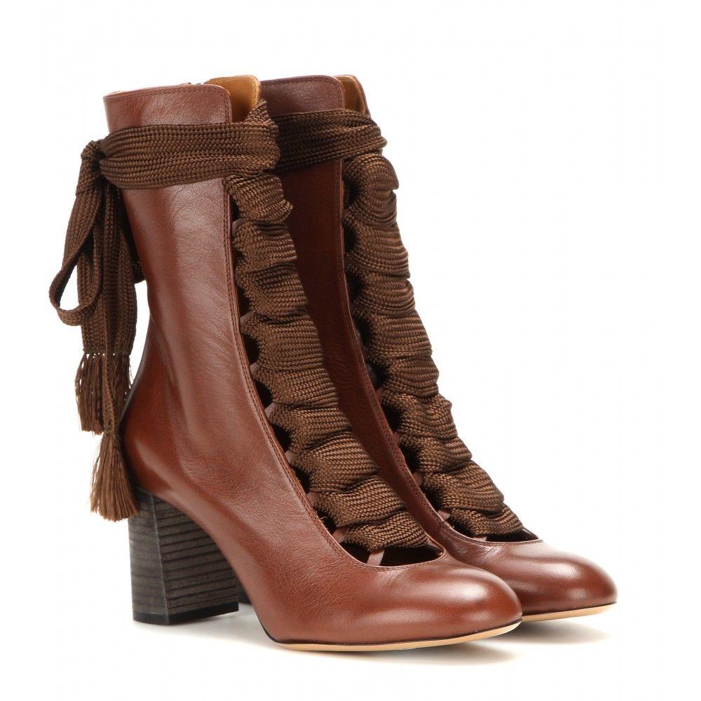 Chloé - Anklebooties aus Leder - mytheresa.com | Chloe ...