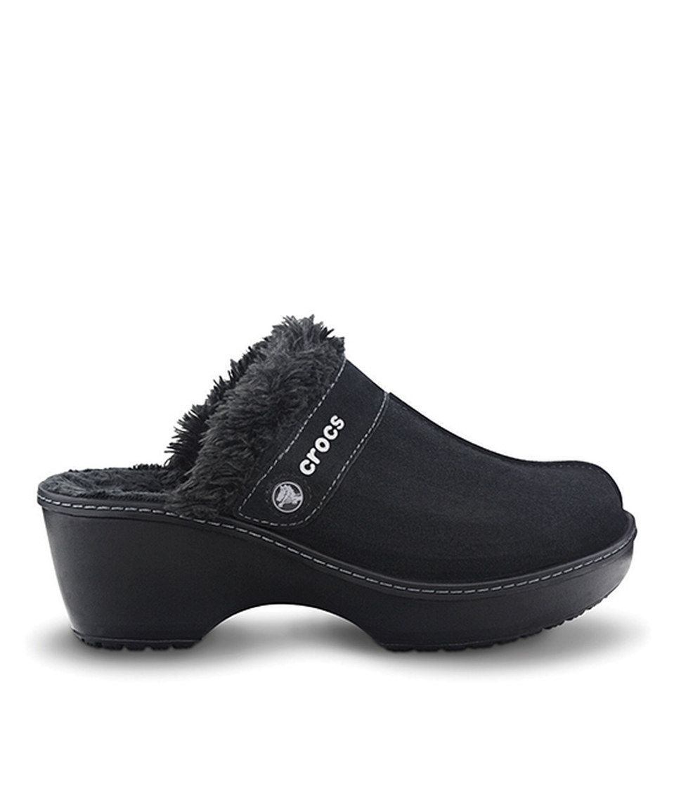 Another great find on #zulily! Crocs Black Crocs Cobbler Leather Clog - Women by Crocs #zulilyfinds