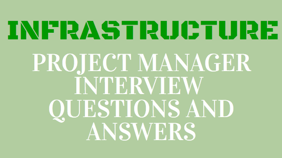 infrastructure project manager interview questions and answers | PMP ...