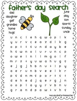 mothers day fathers day word searches a cupcake for the teacher teacherspayteacherscom