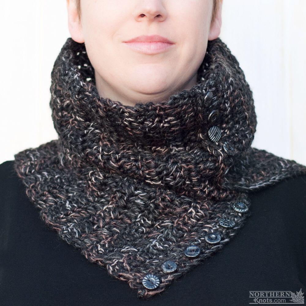 Crochet Pattern - Harvest Moon Cowl (scarf) Crochet cowl pattern - crochet scarf pattern - button cowl - button up cowl - over sized cowl - winter crochet - chunky crochet scarf - easy crochet pattern - beginner crochet pattern