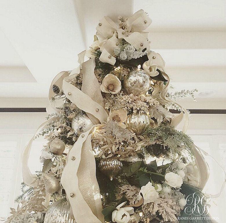 Christmas Decor Tips Tour - 5 Ways to Make your Decor Look Fresh - white christmas tree decorations