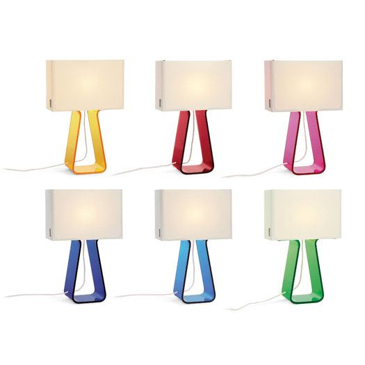 FREE SHIPPING! Shop AllModern for Pablo Designs Colorful Tube Top 14'' H Table Lamp with Rectangular Shade - Great Deals on all  products with the best selection to choose from!
