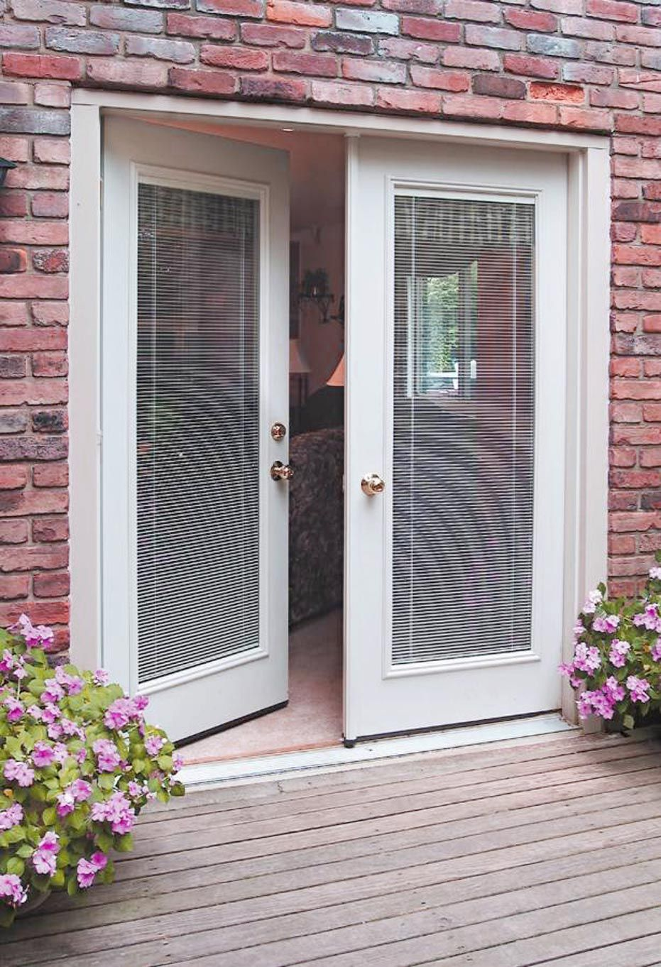 French Patio Doors With Built In Blinds 7