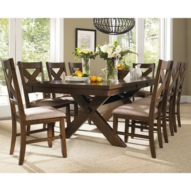 Kraven Dining Set offers that reclaimed farm table look at a ...