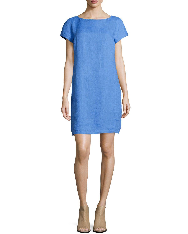 3042a44608e Washable Linen Shift Dress