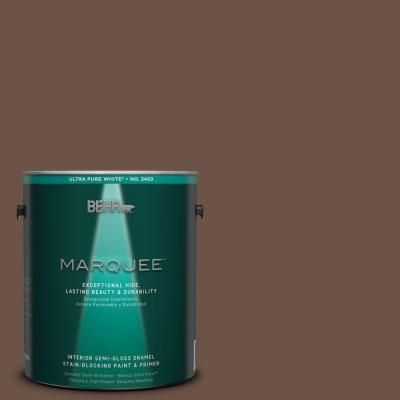 behr marquee 1 gal mq2 05a authentic brown one coat hide on home depot behr paint colors interior id=55647
