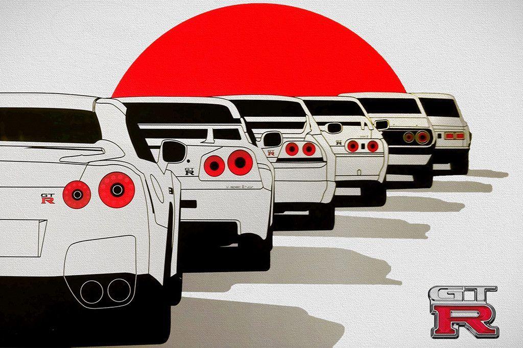 Nissan GT-R 2017 GTR New Car Poster | Desenhos de carros ...