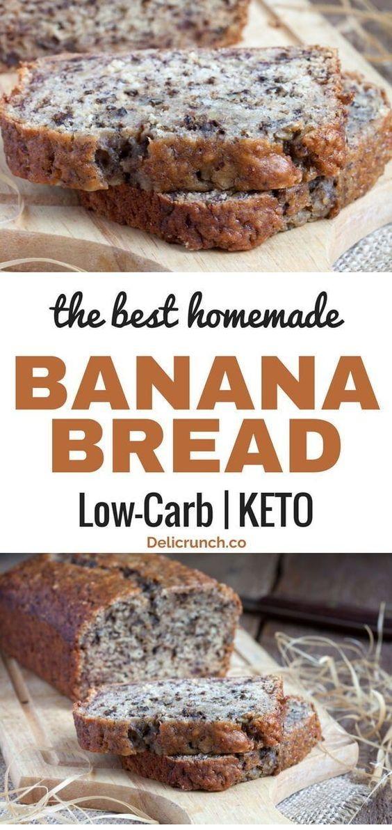The Best Low Carb Banana Bread (Keto-Friendly)  #ketorecipesforbeginners