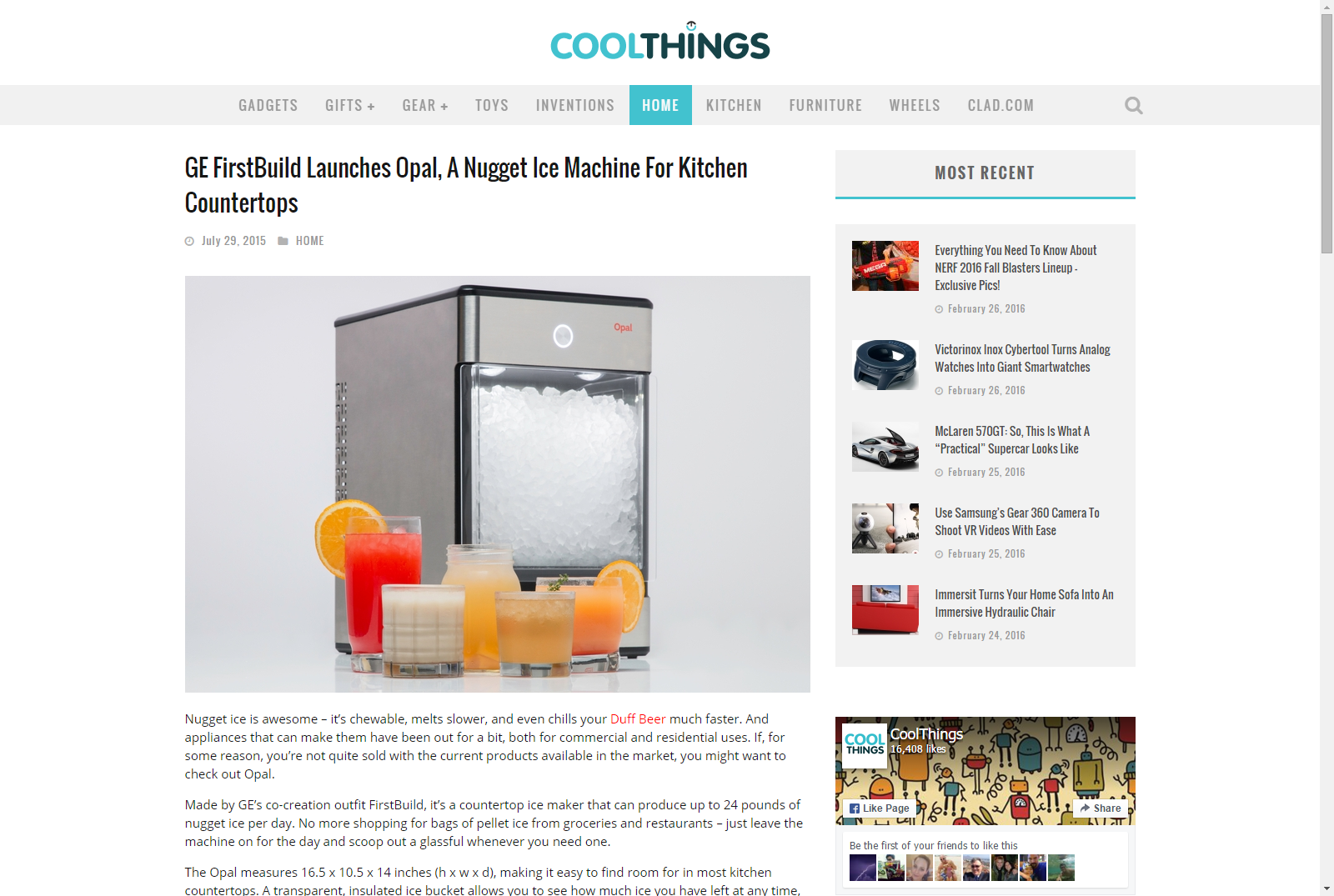 Ge Firstbuild Launches Opal A Nugget Ice Machine For Kitchen