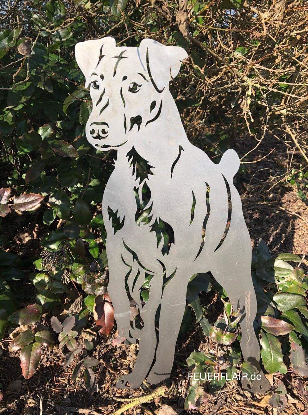 Gartenfigur Jagdterrier Gartenfiguren Terrier Jagd