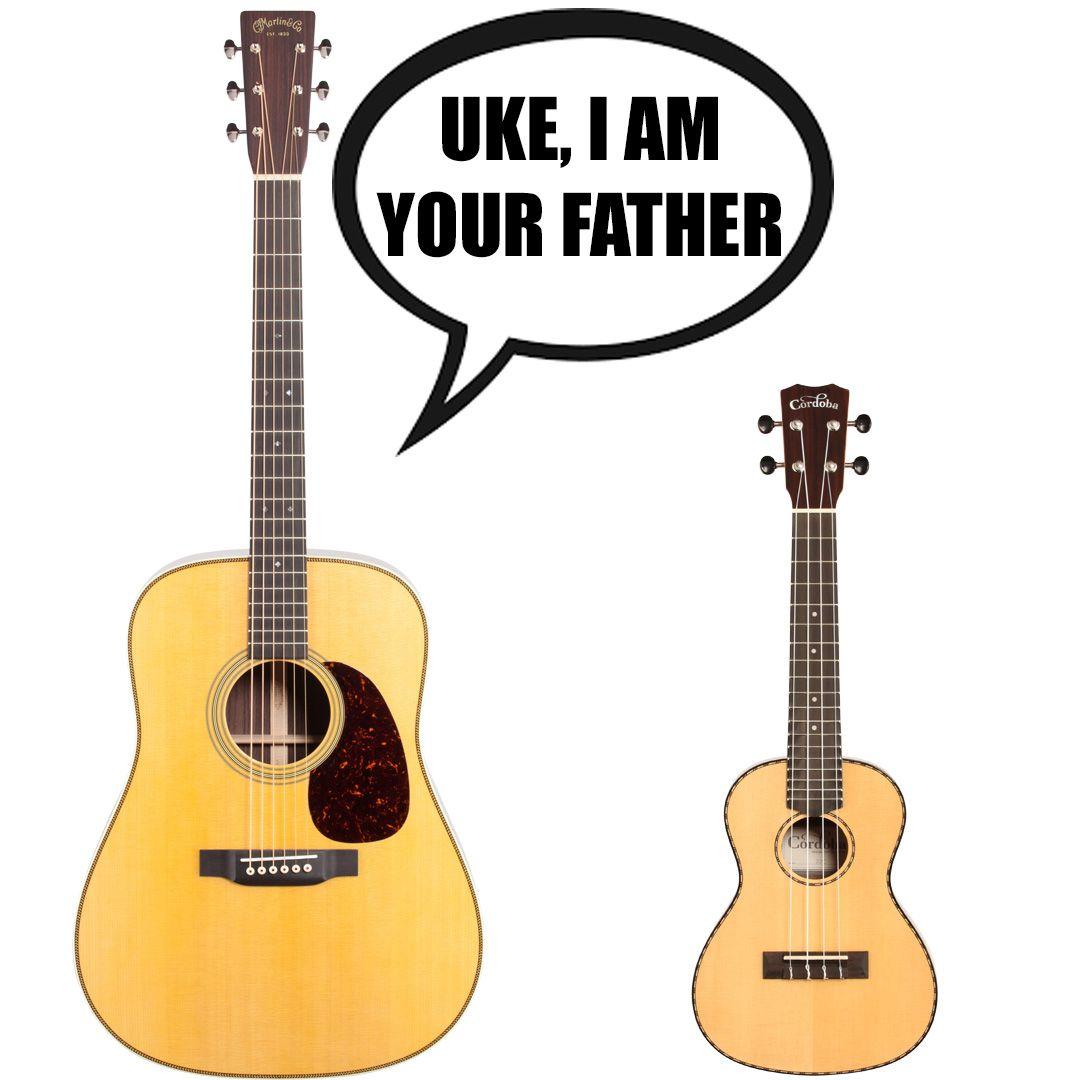 Guitar Wars Starwars Ukulele Guitar Acoustic Americanmusical Americanmusicalsupply Funny Guitar Musical Jokes Music Jokes