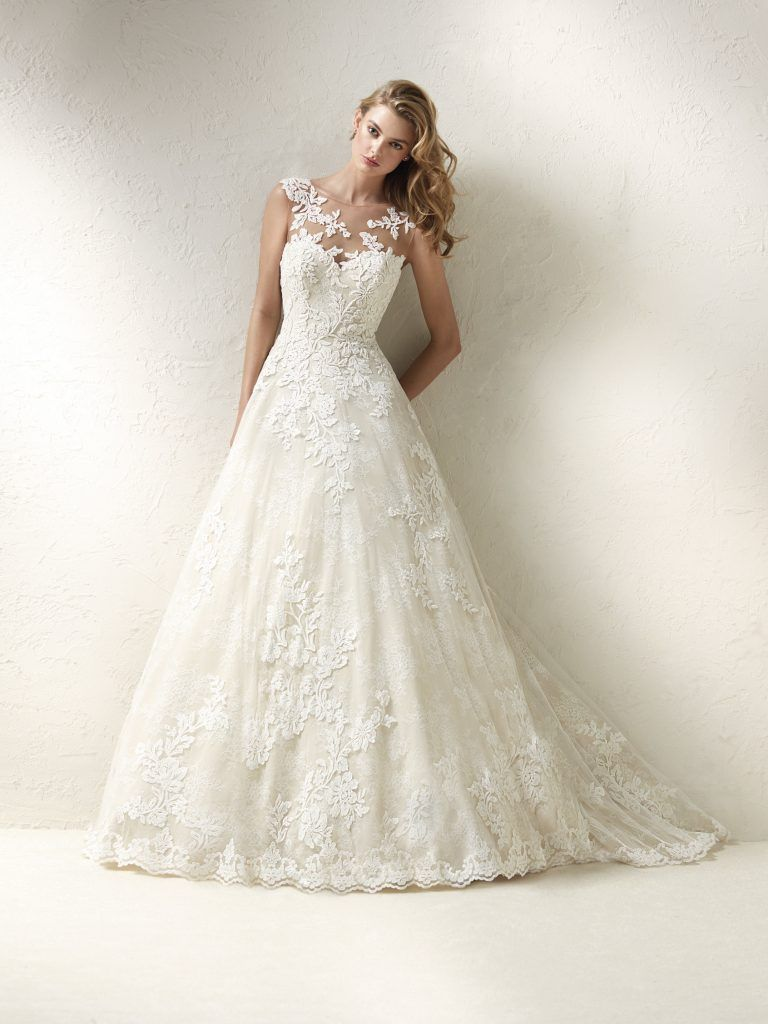 Romantic ball gown wedding dress by pronovias image the dress
