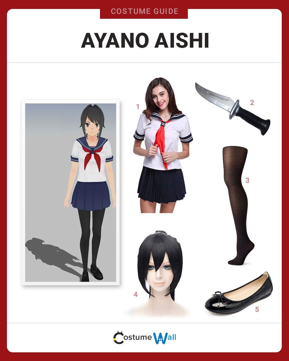 Dress Like Ayano Aishi Casual Cosplay Easy Cosplay Nerd Costumes