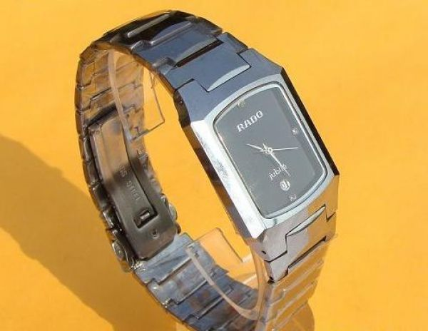 a54e3d35e45 Rado Jubile Tungsten Black Face Diamond Markers Watches