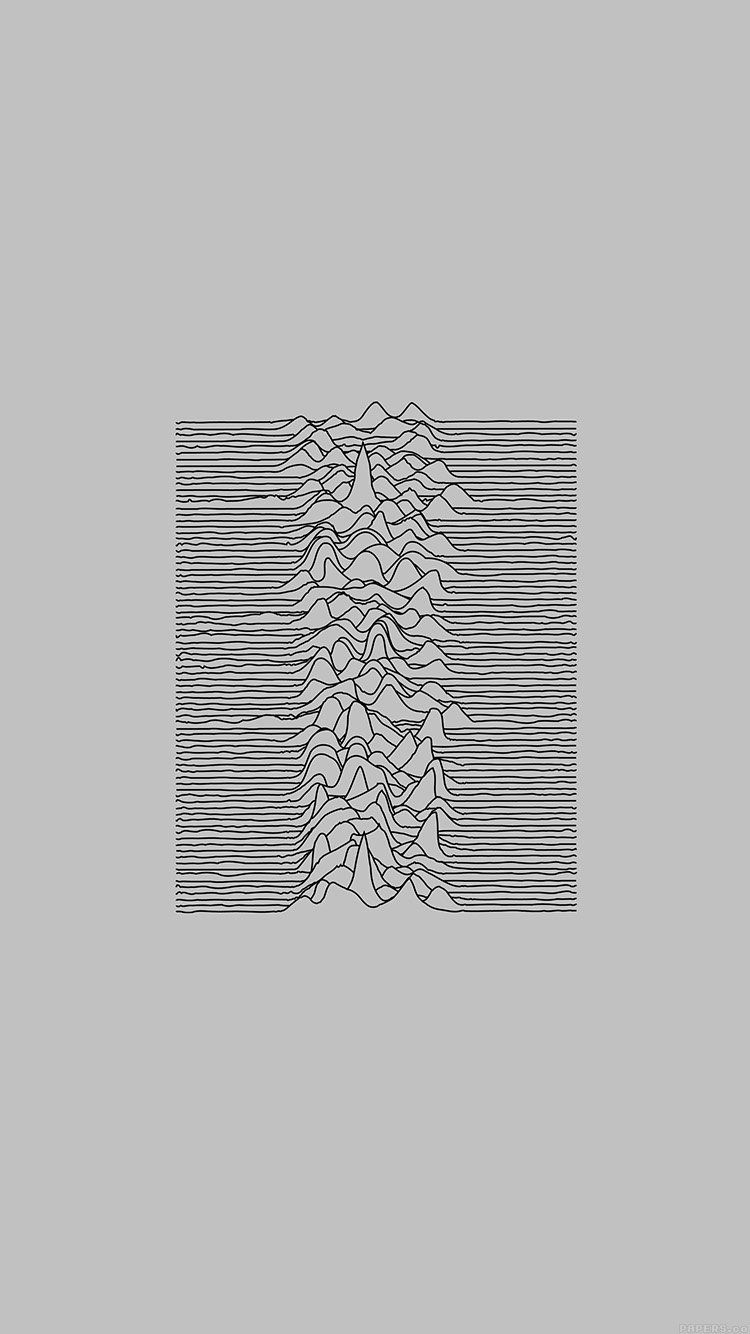 Joy Division Unknown Pleasures White Art Minimal Wallpaper Hd Iphone