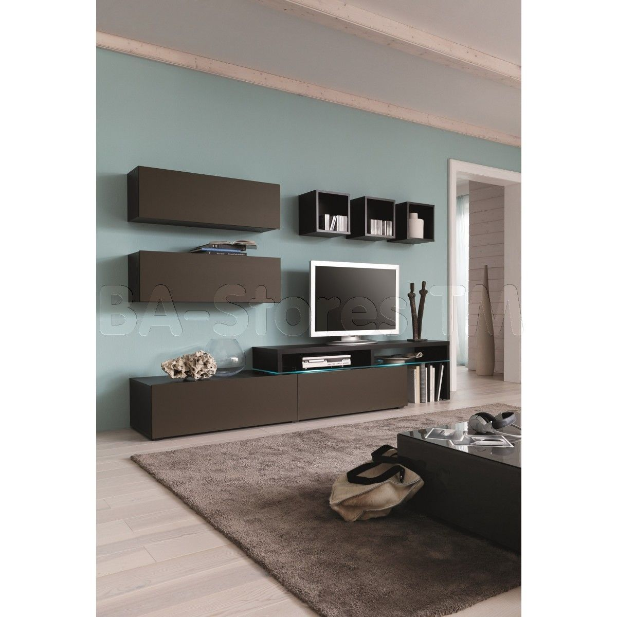 Amsterdam Combination 11338 Modern Wall Unit By Creative Furniture