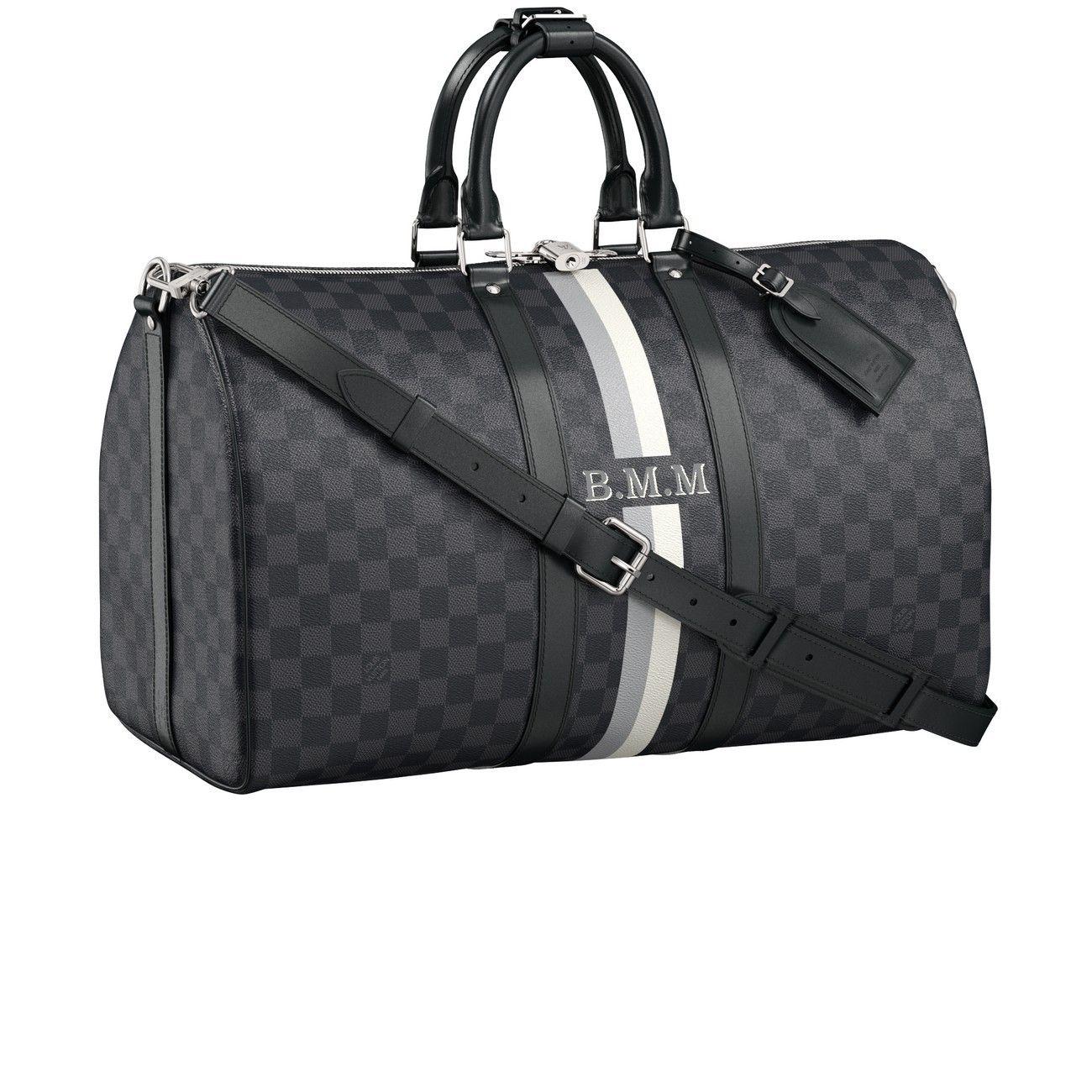 7a8a779878 Keepall Bandouliere 45 Mon Damier Graphite in 2019 | Louis Vuitton ...
