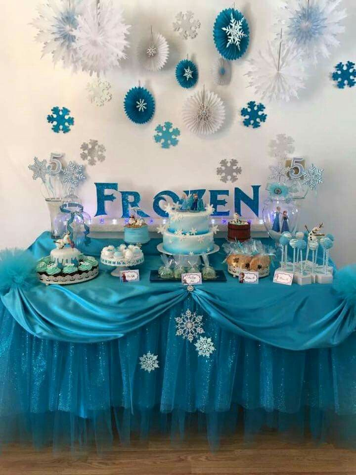 Frozen Birthday Party Set Up Decorations Parties