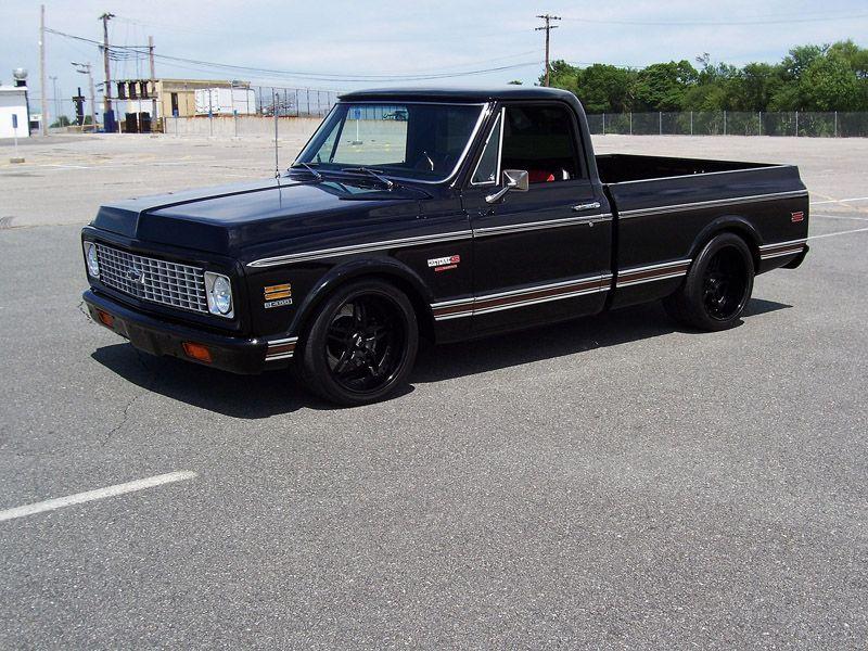 935fd422690f0 Black Chevrolet c10 truck