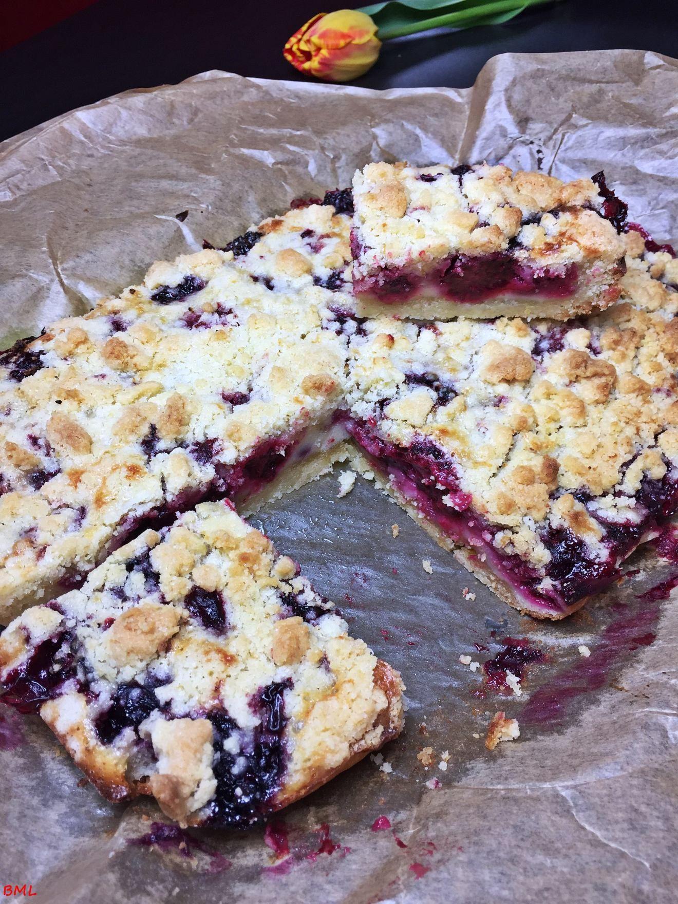 Brombeer-Streusel-Schnitten…Blackberry-Shortbread-Bars #brombeerenrezepte