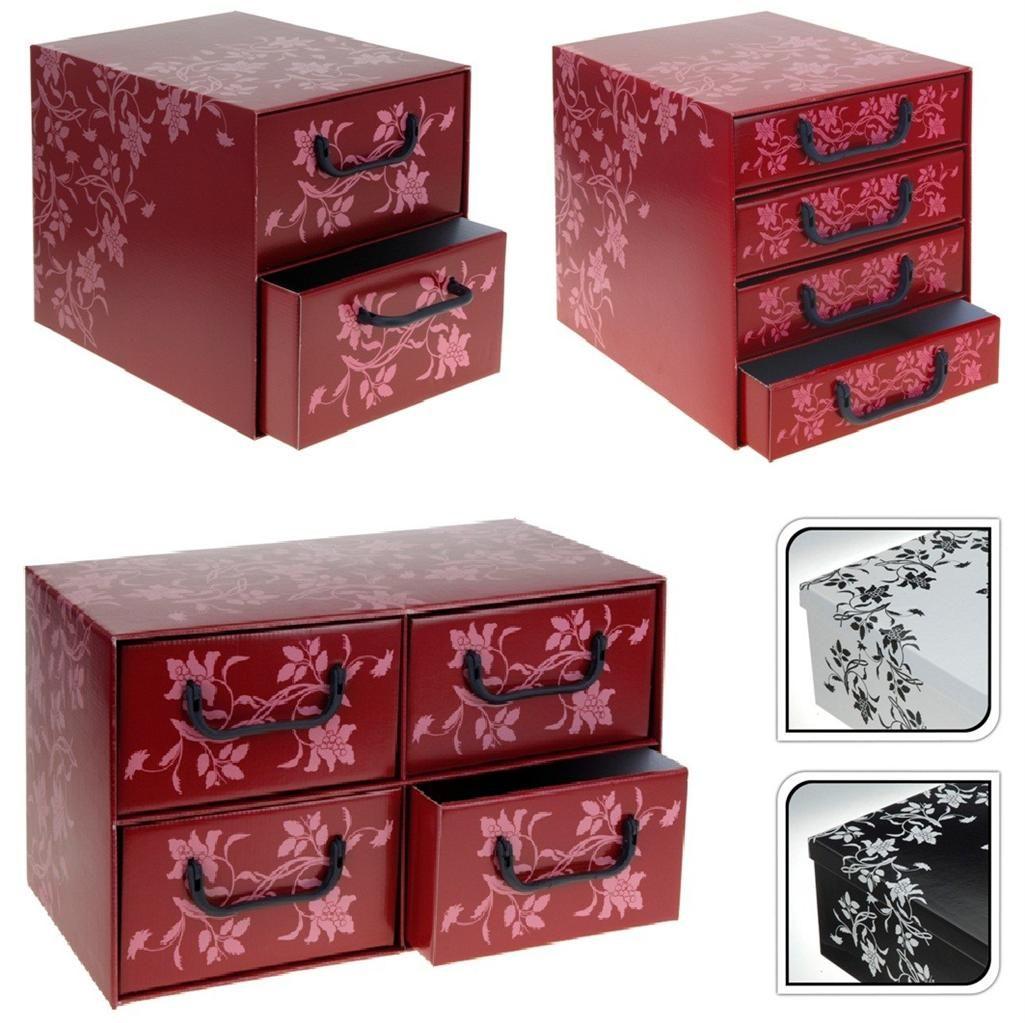 Italian Fl Cardboard Storage Box Drawers Cabinet Unit Bedroom Office Home